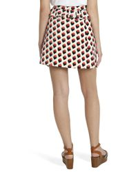 Victoria, Victoria Beckham - Red 'plush Jacquard' Skirt - Lyst