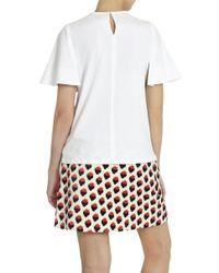 Victoria, Victoria Beckham - White Circle Sleeve T-shirt - Lyst