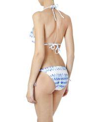 Heidi Klein - Blue Printed Rope Bikini Bottom - Lyst