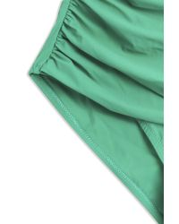 Heidi Klein - Green Ruched Bandeau Swimsuit - Lyst