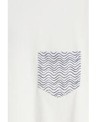 Frescobol Carioca - White Wave Pocket T-shirt for Men - Lyst