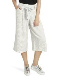 Splendid - Natural Striped Culottes - Lyst