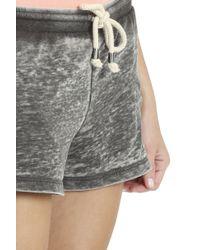 Splendid - Gray Burnt Active Shorts - Lyst