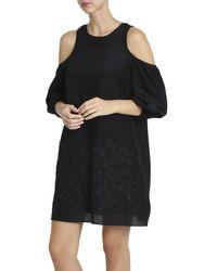 Tibi - Black Embroided Dress - Lyst