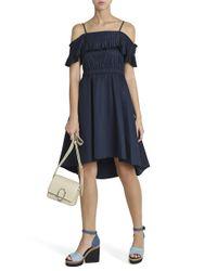 Tibi - Blue Ruffled Dress - Lyst