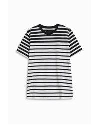 Rag & Bone - Black Striped T-shirt - Lyst