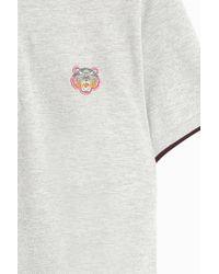 KENZO - Gray Pique Polo T-shirt for Men - Lyst