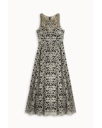Notte by Marchesa - Metallic Embroided Tea Dress - Lyst