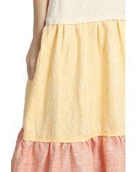 Lisa Marie Fernandez - Orange Colour Block Dress - Lyst
