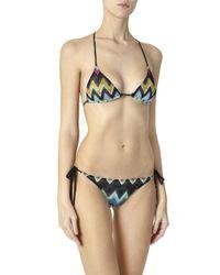 Missoni - Multicolor Zigzag Lame Classic Bikini - Lyst