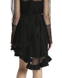 Simone Rocha - Blue Broacde Tulle Skirt - Lyst