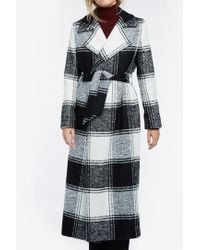 Martin Grant - Black Long Checked Trench - Lyst