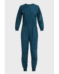 Isabel Marant Blue Mallory Coated Cotton Jumpsuit