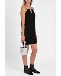Alexander Wang | Black Cross Strap Jersey Dress | Lyst