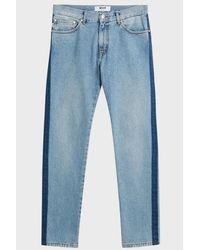 ba246d5c00a MSGM Side Stripe Jeans in Blue for Men - Lyst
