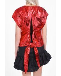 Isabel Marant   Red Daren Metallic Top   Lyst