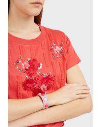 Paul & Joe - Pink Stud-embellished Leather Bracelet - Lyst