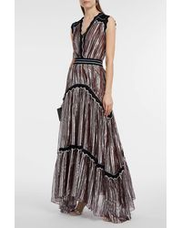 Peter Pilotto Metallic Silk-blend Lamé Gown, Uk10