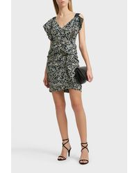 Étoile Isabel Marant - Black Topaz Printed Linen Dress - Lyst