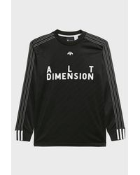 Adidas Originals | Black Adidas Originals By Alexander Wang Soccer Top for Men | Lyst