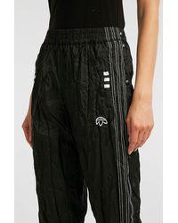 Alexander Wang - Black Crinkled-jersey Track Pants - Lyst
