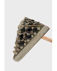 Maha Lozi - Metallic On The Edge Rose Gold-plated Crystal Earrings - Lyst