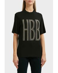 Elie Saab - Black Hbb Cotton T-shirt - Lyst