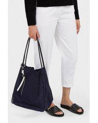 Proenza Schouler Blue Extra Large Suede Tote