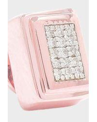 Monica Vinader - Pink Baja Deco Stud Earrings - Lyst
