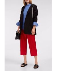 Maison Margiela Red Cropped Trousers