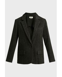 Étoile Isabel Marant Black Charly Wool Jacket