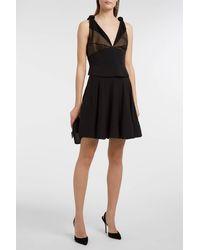 Alexander Wang Black Panelled Silk And Wool Dress