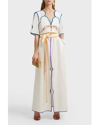 Rosie Assoulin Multicolor Tube-y Or Not Tube-y Cotton Dress, Us6