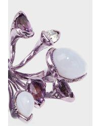 Fernando Jorge - Multicolor Lilac-coated 18-karat Gold Diamond, Amethyst And Chalcedony Earrings - Lyst