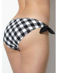 Boux Avenue - Black Italy Check Bikini Briefs - Lyst