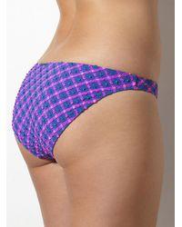 Boux Avenue - Purple Valletta Multiway Check Bikini Briefs - Lyst