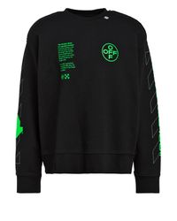 Off-White c/o Virgil Abloh Oversized-Sweatshirt ARCH SHAPES in Black für Herren
