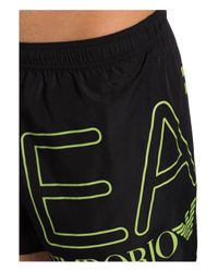 EA7 Badeshorts in Black für Herren