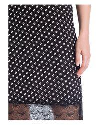 Michael Kors Black Kleid mit Spitzensaum