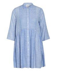 ONLY Blue Hemdblusenkleid mit 3/4-Arm