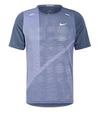 Nike Laufshirt RISE 365 in Blue für Herren