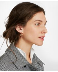 Brooks Brothers - Metallic Plique-a-jour Enamel Hoop Earrings - Lyst