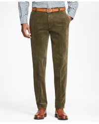 Brooks Brothers | Green Milano Fit Wide Wale Stretch Corduroys for Men | Lyst