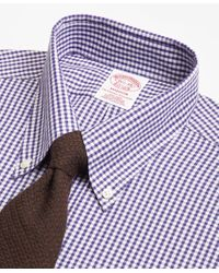 Brooks Brothers - Purple Madison Classic-fit Dress Shirt, Non-iron Dobby Gingham for Men - Lyst