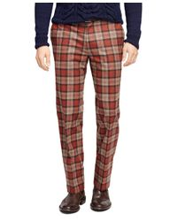 Brooks Brothers - Red Fitzgerald Fit Tartan Trousers for Men - Lyst