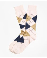 Brooks Brothers - Pink Argyle Crew Socks for Men - Lyst