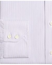 Brooks Brothers Purple Madison Classic-fit Dress Shirt, Alternating Framed Stripe for men