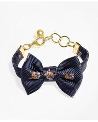 Brooks Brothers | Blue Kiel James Patrick Fox Bow Tie Bracelet | Lyst