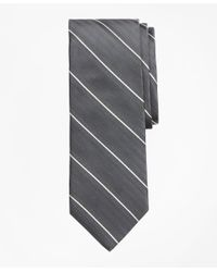 Brooks Brothers Gray Double Space Stripe Tie for men