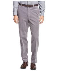 Brooks Brothers - Gray Hudson Fit Wide Wale Corduroys for Men - Lyst